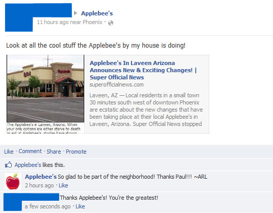 The Applebee's restaurant in Laveen, Arizona