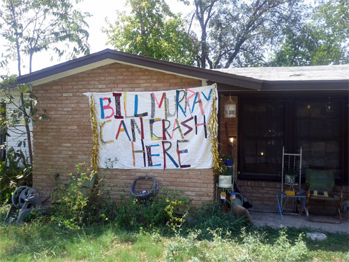 Bill Murray party in Austin, Texas