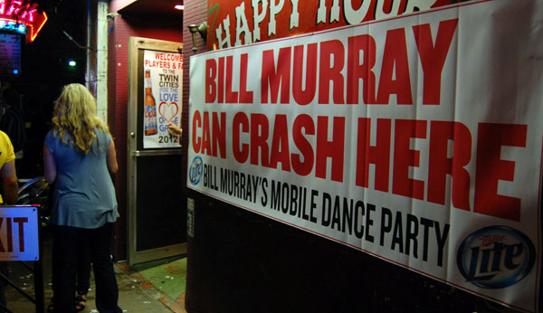 Bill Murray Party Crashing Tour in Minneapolis, Minnesota