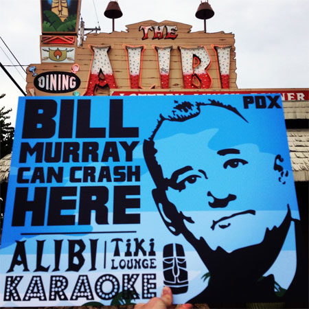 Bill Murray party crashing tour in Portland Oregon