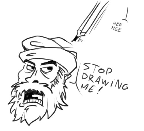 Drawing of Muhammad
