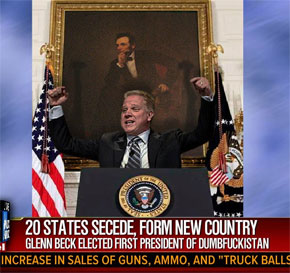 Glenn Beck and 20 states succeeding from the nation