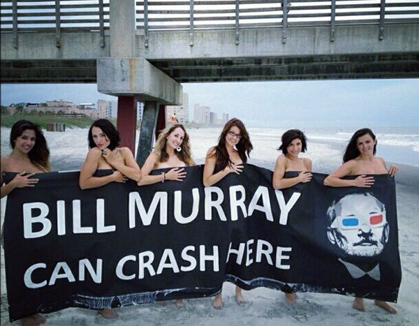 Bill Murray party in Jacksonville, Florida