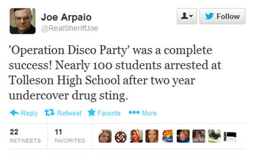Joe Arpaio tweet