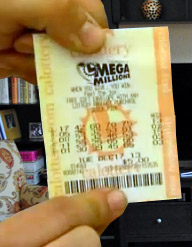 Paul Horner Mega Millions winning ticket