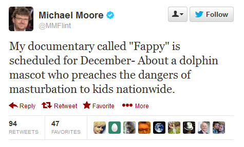 Michael Moore tweet about Fappy the movie
