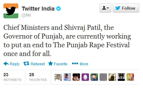 India working to end the Punjab Rape Festival