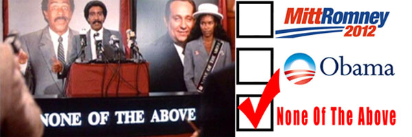 New presidential campaign called 'Check None Of The Above'