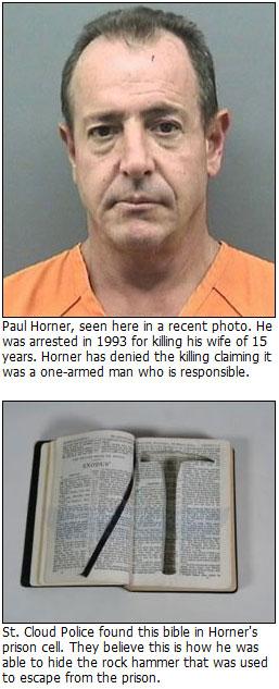 Prisoner Paul Horner escapes using The Shawshank Redemption