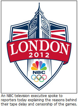 NBC tape delay and censorship of the Olympic games in London