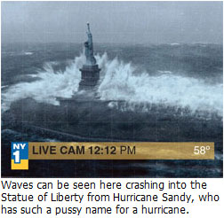 Hurricane Sandy has such a pussy name for a hurricane