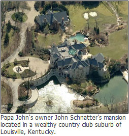 Papa John's mansion - Free Pizza coupon offer