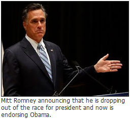 Mitt Romney drops out of presidential race