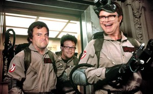 Bill Murray, Seth Rogen, Jack Black, and Rainn Wilson in Ghostbusters 3