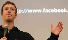 Mark Zuckerberg from Facebook announcing new monthly fee
