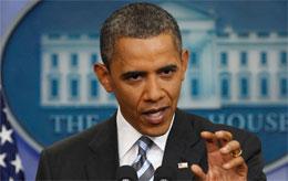 President Obama explaining the Guns or Drones program