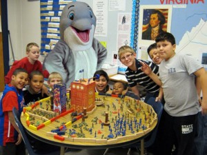 Fappy The Anti-Masturbation Dolphin seen here speaking to children about the dangers and consequences of masturbation.