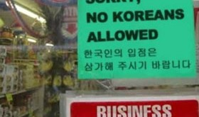 Town bans Koreans because of North Korea threats