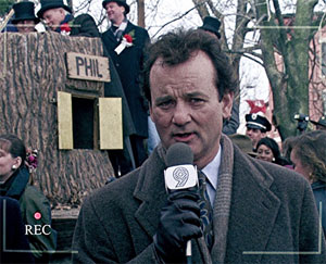 Bill Murray from Groundhog Day
