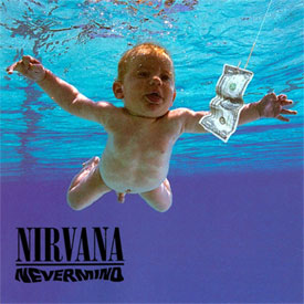 Nevermind album cover by the band Nirvana