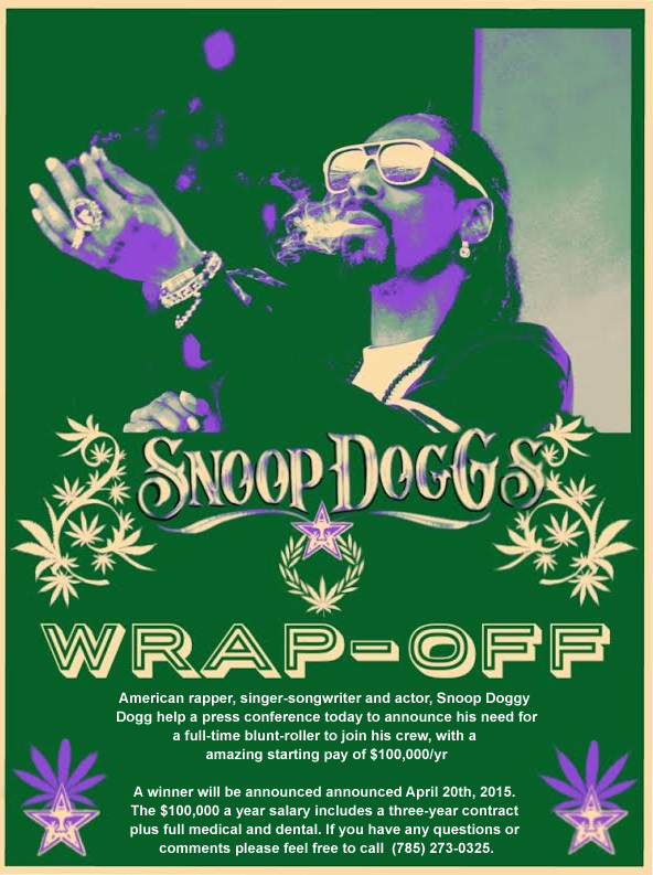 Snoop Dogg blunt rolling contest; winner gets $100,000