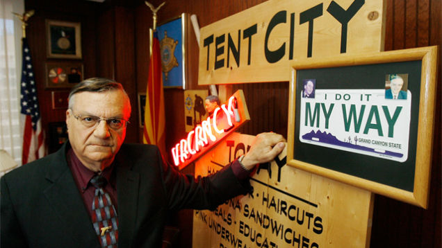 joe arpaio tent city closing